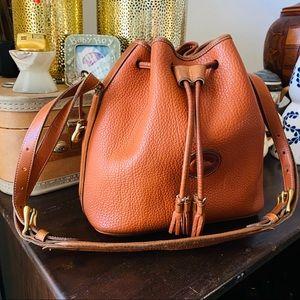 DOONEY BOURKE AWL Vtg drawstring bucket bag orange